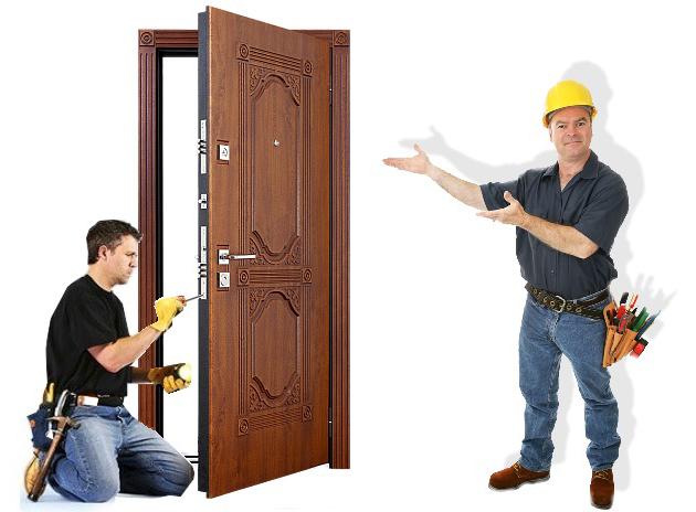 Этапы установки входной двери